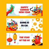 Chinese Traditional Mascot Banner vector