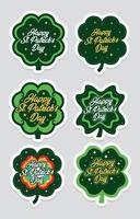 Shamrock Leaf St.Patrick's Sticker Concept vector