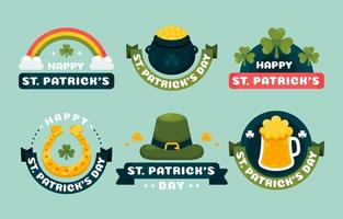 ST. Patrick's Day Label Collection vector