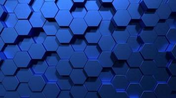 blaue Wabe formt matte Oberfläche, die sich bewegt