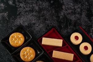galletas bellamente dispuestas en un plato