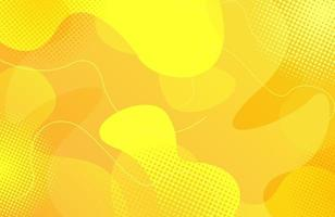 Dynamic fluid geometric yellow abstract background vector