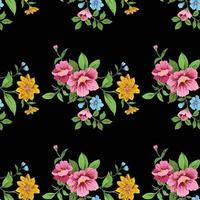 flower cute pattern seamles background vector