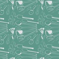 kitchen tools pattern seamless background vector