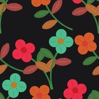 flower cute seamless pattern background vector