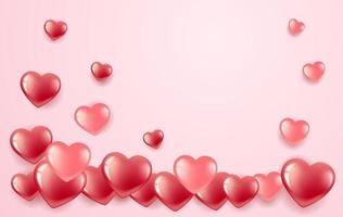 Heart shaped Valentine's banner vector