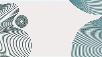 Blue abstract line art background with text placeholder.
