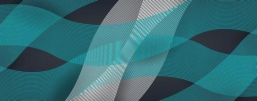 3D modern line wave curve abstract background vector