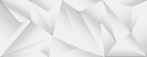 low poly grey and white background design with geometric triangles vector