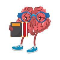 Human brain intelligence and creativity cartoons vector