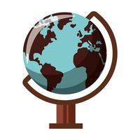 símbolo de viaje de globo del mundo aislado vector
