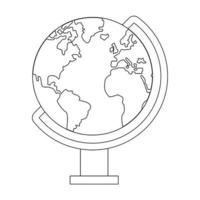 World globe travel symbol isolated in black and white vector