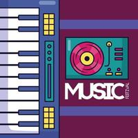 cartel del festival de música vector