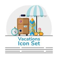 Vacation banner template vector