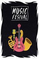 music festival entertainment invitation poster vector