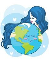 Mother earth day poster vector