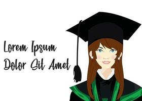 graduation ceremony concept vector