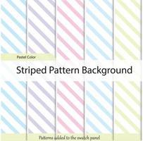 Diagonal stripe pattern vector. Pastel color set Geometrical simple diagonal image.