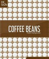 vector seamless background with coffee beans. Geometrical fish scale layout.