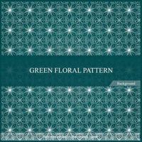 Elegant seamless geometric pattern. green floral pattern. vector