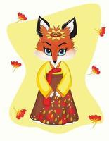 ilustración de camiseta de zorro