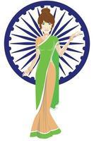 día nacional indio vector