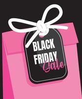 black friday sale shopping bag poster vector