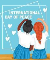 International peace day design vector