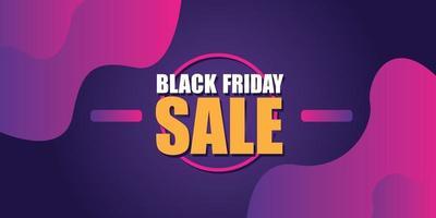 Black friday sale banner layout design vector