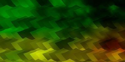 diseño de vector verde claro, amarillo con formas hexagonales.