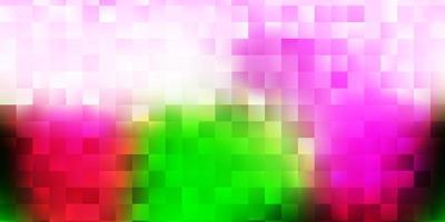Fondo de vector rosa claro, verde con formas caóticas.