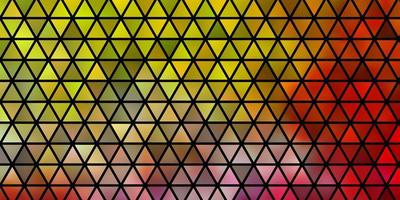 Light Pink, Yellow vector background with triangles.