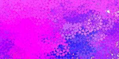 patrón de vector púrpura claro, rosa con formas poligonales.