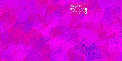 Dark pink, blue vector pattern with polygonal shapes.
