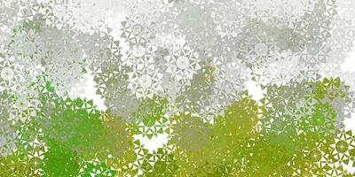 textura de vector gris claro con copos de nieve brillantes.