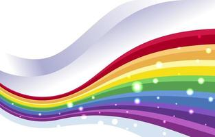 Rainbow Color Background with Sparkle vector