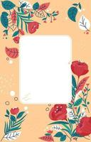 Floral Spring Leaves Background with Roses vector