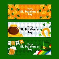 St Patrick's Day Banner Set vector
