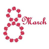 Women's Day 8 March vector