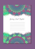 Mandala vintage template card vector