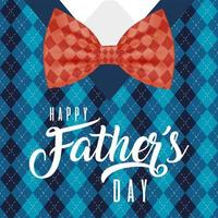Plaid sweater for Father's day celebration vector