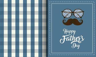 Glasses and mustache for Father's day celebration vector