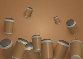 diseño moderno del fondo de la taza de café vector