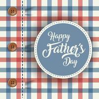 camisa a cuadros para la celebración del día del padre vector
