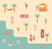 summer vacation poster. vector