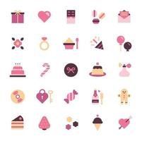 valentine icon set.