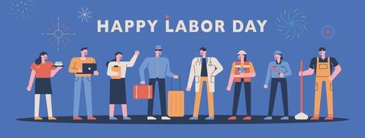 Happy labor day. vector