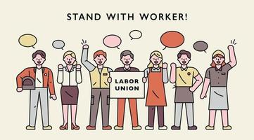 Labor union characters. vector