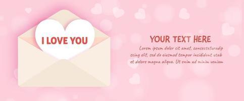 Valentine's day  banner . vector