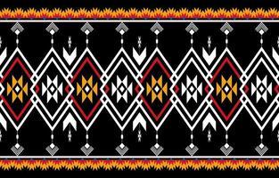vector transparente de patrón nativo geométrico naranja y rojo abstracto.